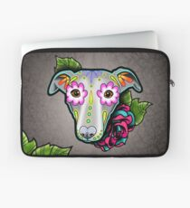 Day of the Dead Whippet / Greyhound Sugar Skull Dog Laptop Sleeve