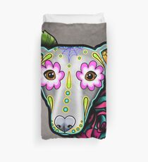 Day of the Dead Whippet / Greyhound Sugar Skull Dog Duvet Cover