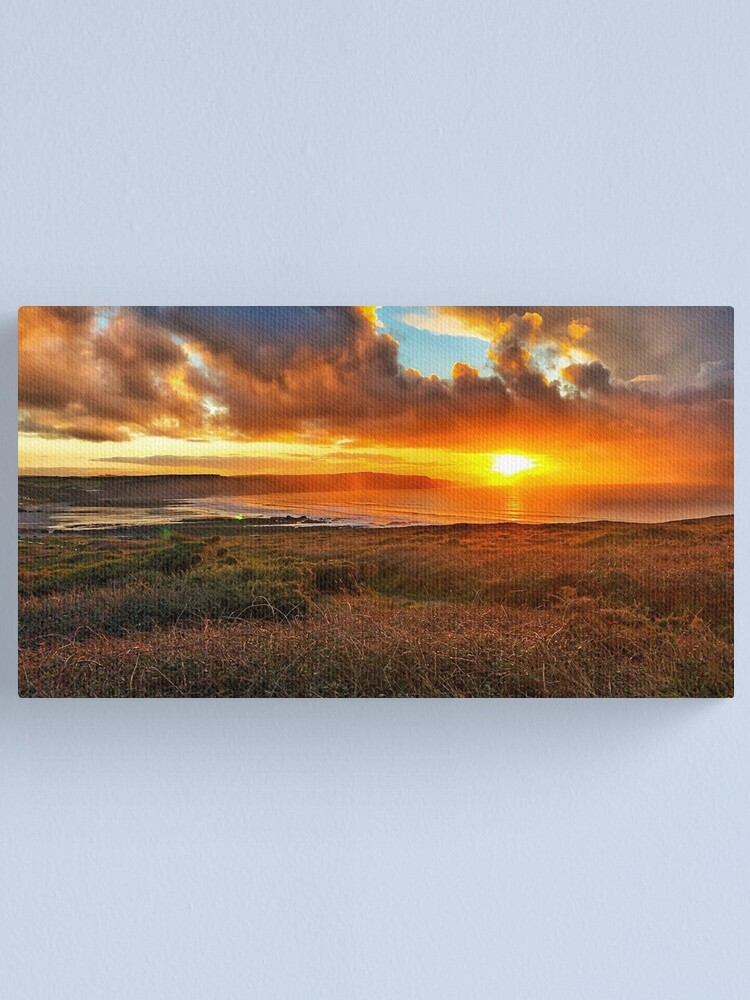 Alternate view of Widemouth Bay sunset Canvas Print