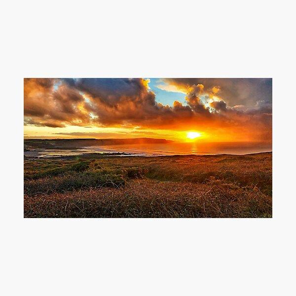 Widemouth Bay sunset Photographic Print