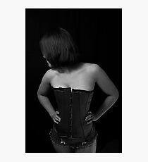 Shy Girl in a Corset Photographic Print
