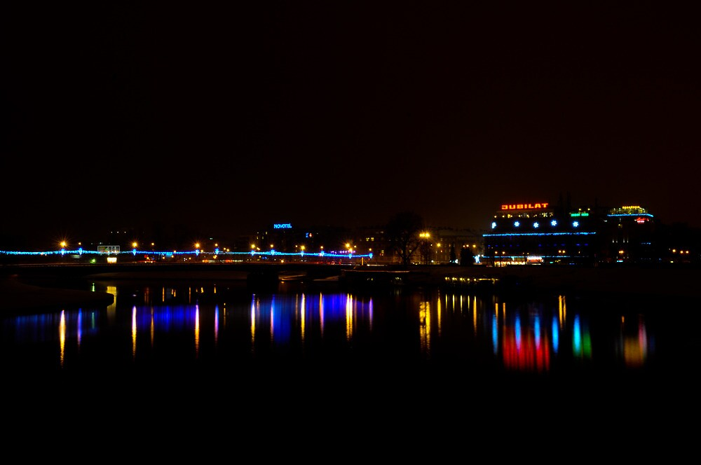 Reflection on Vistula River, Krakow by Dhruba Tamuli