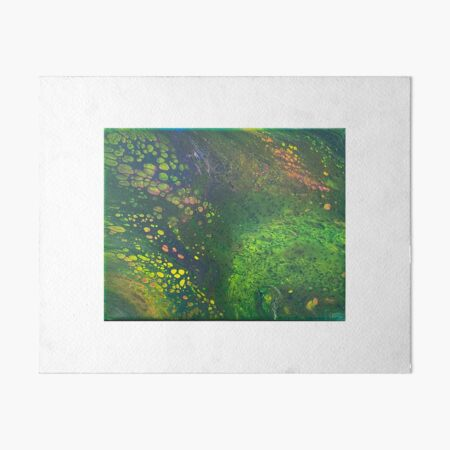 Green Scales Abstract Art Board Print
