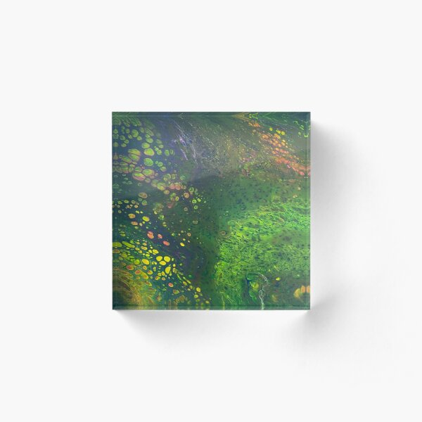 Green Scales Abstract Acrylic Block