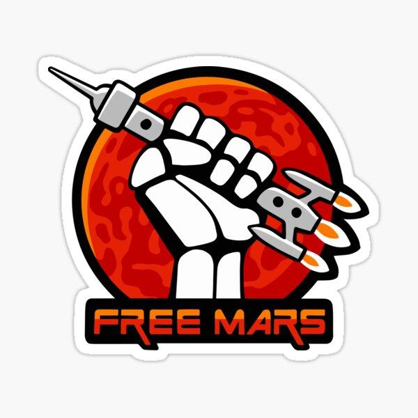 Free Mars Sticker