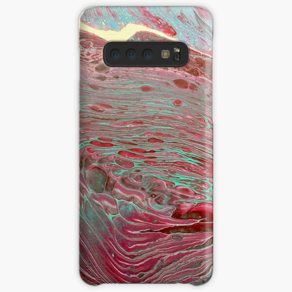 Maroon, purple, blue abstract textured painting Samsung Galaxy Snap Case