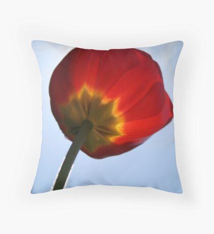 Fuzzy Tulip Throw Pillow