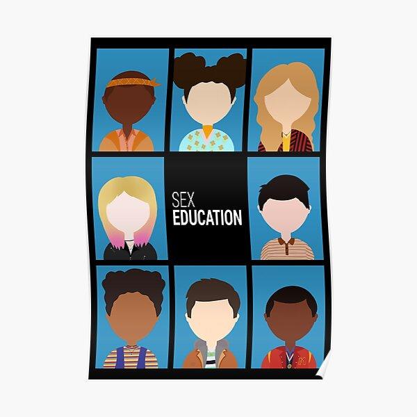 Icônes d'éducation sexuelle Poster