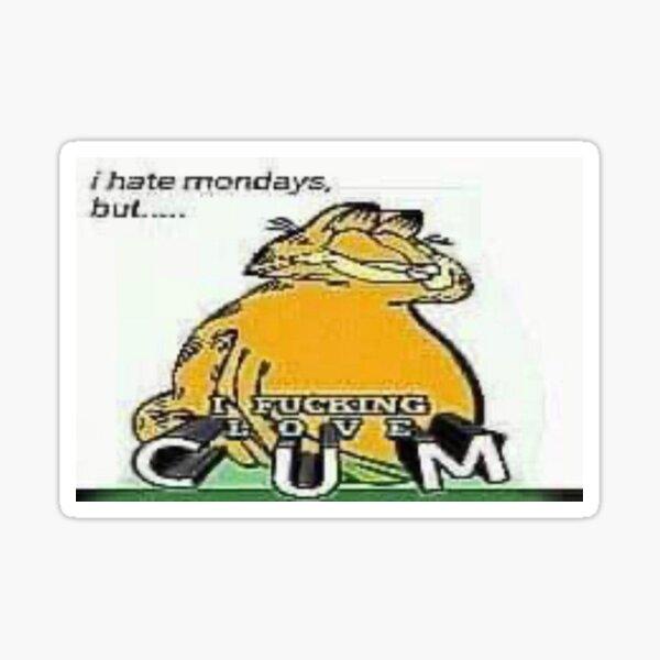 Meme Garfield Coom Pegatina