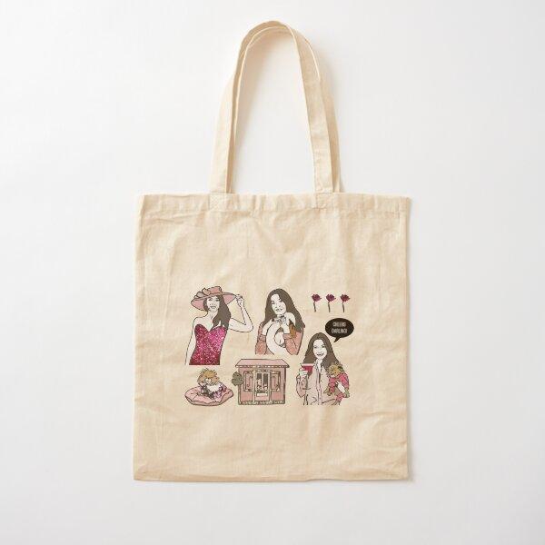 Pretty in Pink Cotton Tote Bag