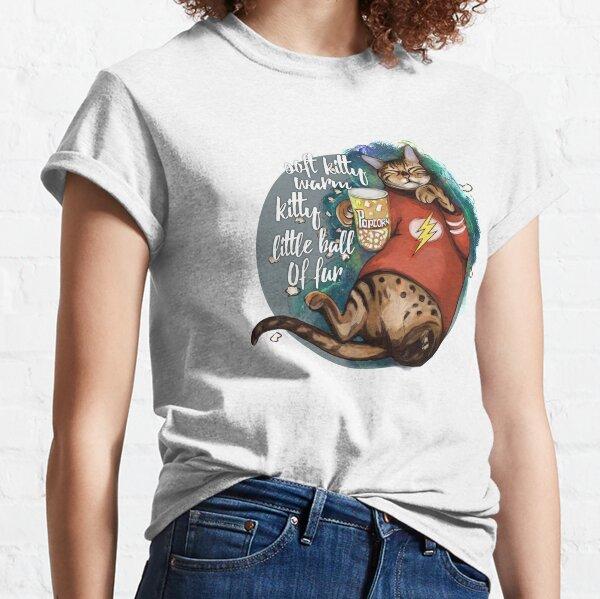 Soft kitty warm kitty galaxy cat Classic T-Shirt