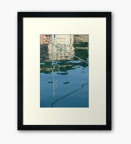 chain reflection  Framed Print