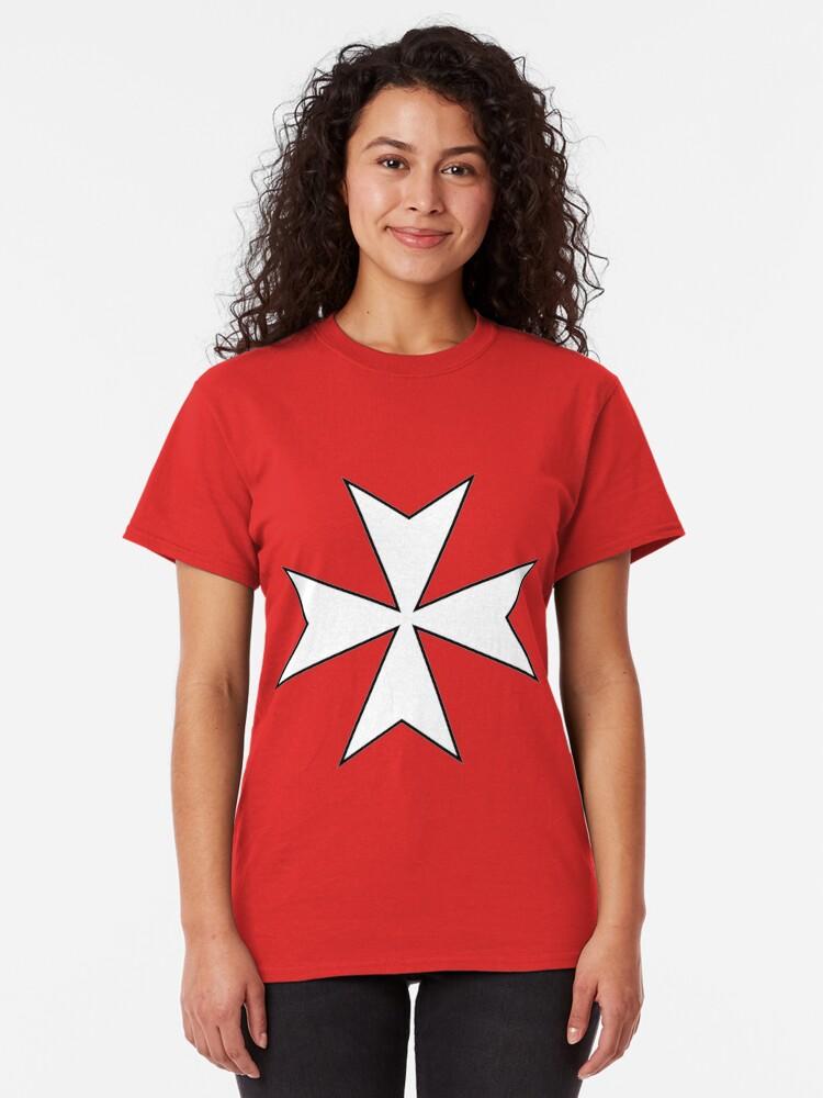 Alternate view of Knights Hospitaller Templar Classic T-Shirt