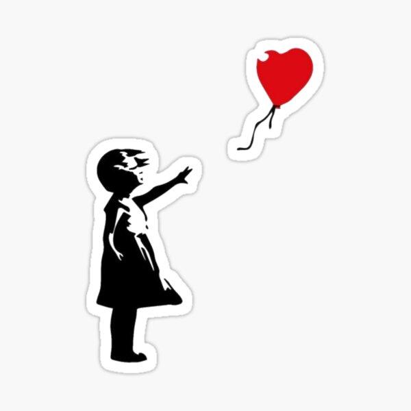 The Little Girl With Bansky Balloon Sticker