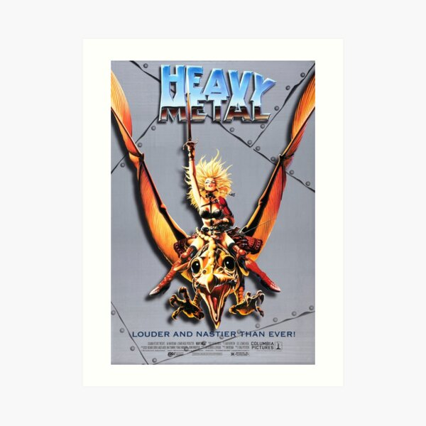 Heavy Metal Classic Movie Poster Art Print By Zjcustoms Redbubble