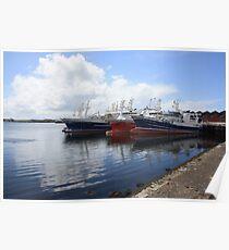 Big Atlantic fishing boat Killybegs Donegal Poster