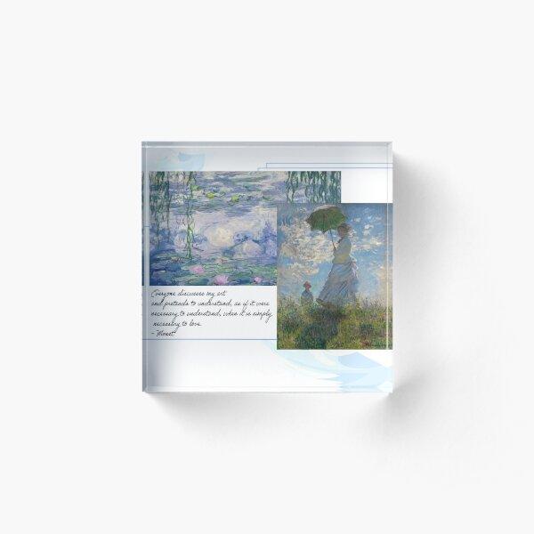 Monet Acrylic Block