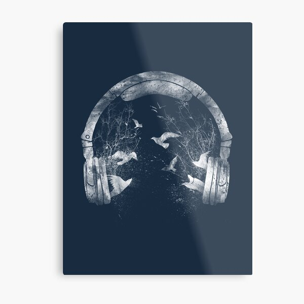 headphone Metal Print