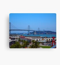 Bay Bridge AT&T Park Canvas Print