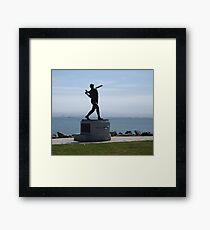 Willie McCovey Statue Framed Print