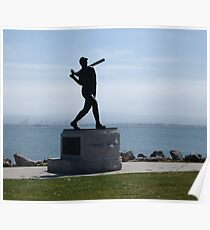Willie McCovey Statue Poster