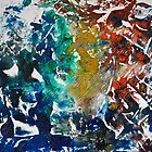 Rita-T, Abstract Painting, Blue, Turquoise, Red by VoxOrpheus