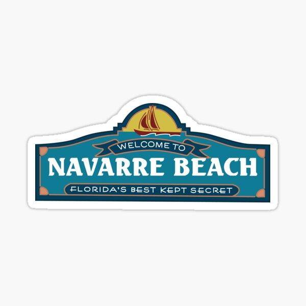 El viejo cartel de la playa de Navarra Pegatina