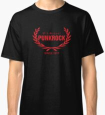 Old School PUNKROCK Since 1977 (in red) Classic T-Shirt