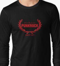 Old School PUNKROCK Since 1977 (in red) Long Sleeve T-Shirt