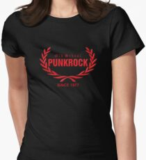Old School PUNKROCK Since 1977 (in red) Women's Fitted T-Shirt