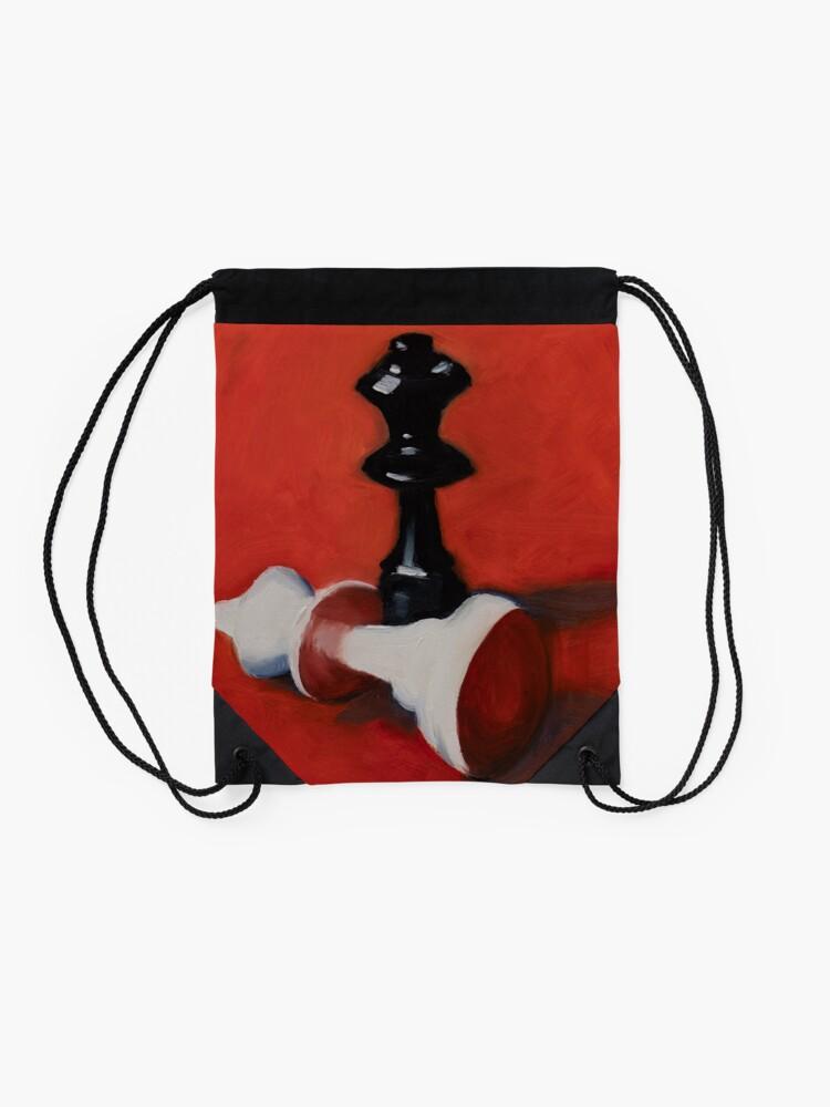 Alternate view of Checkmate Drawstring Bag