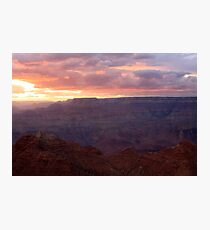 Sunset in the Grand Canyon National Park. Photographic Print