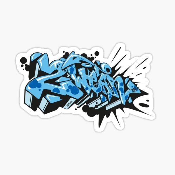2wear Graffiti Style Glossy Sticker