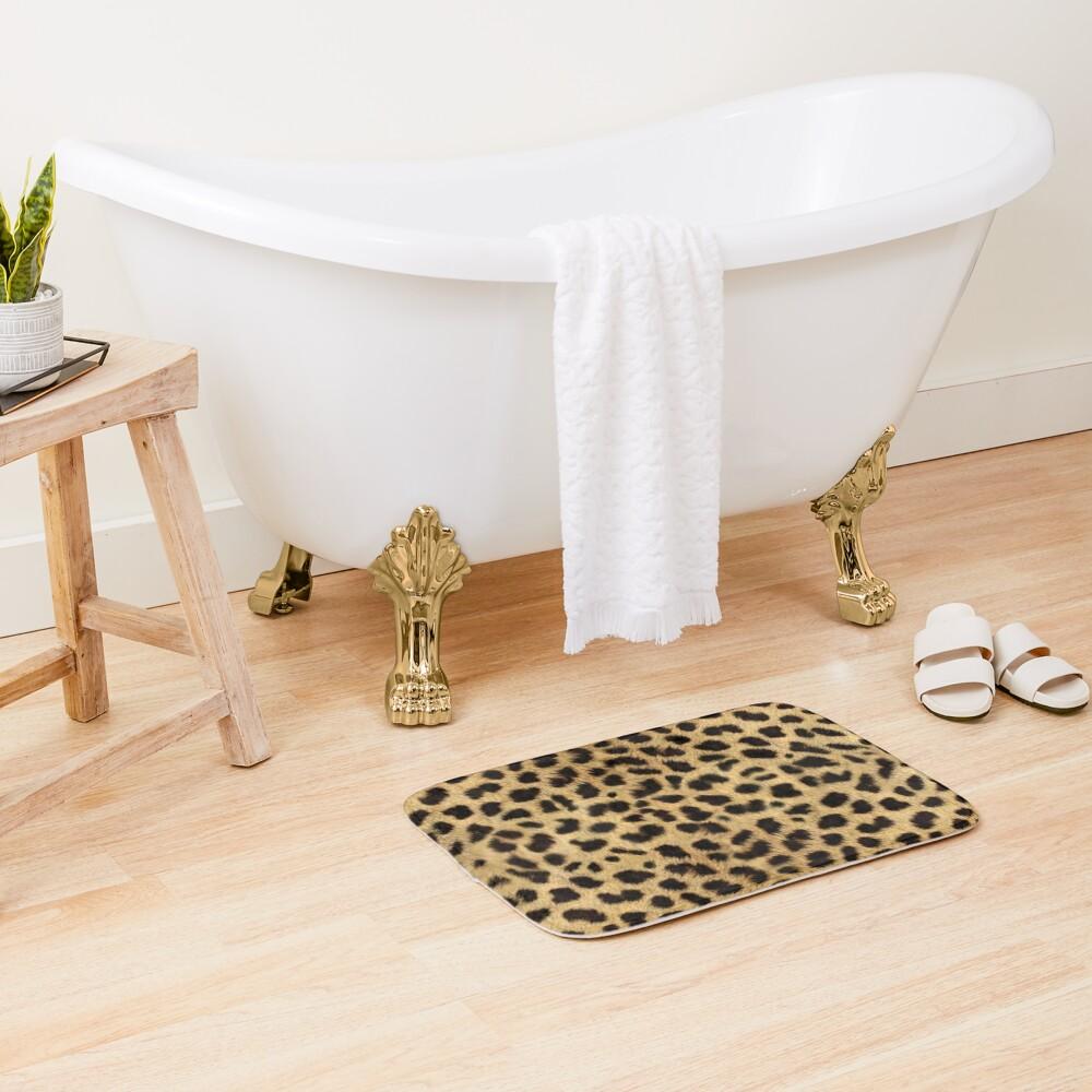 Funky Leopard Print Bath Mat
