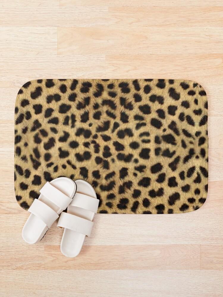 Alternate view of Funky Leopard Print Bath Mat