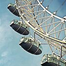 Morning Flight - London Eye by Sherie LaPrade