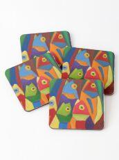 Cube Fish Coasters