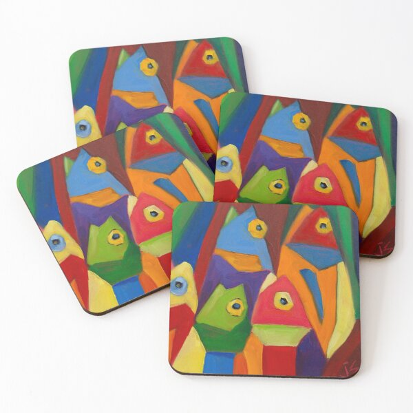 Cube Fish Coasters (Set of 4)