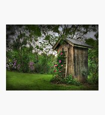 Fragrant Outhouse Photographic Print