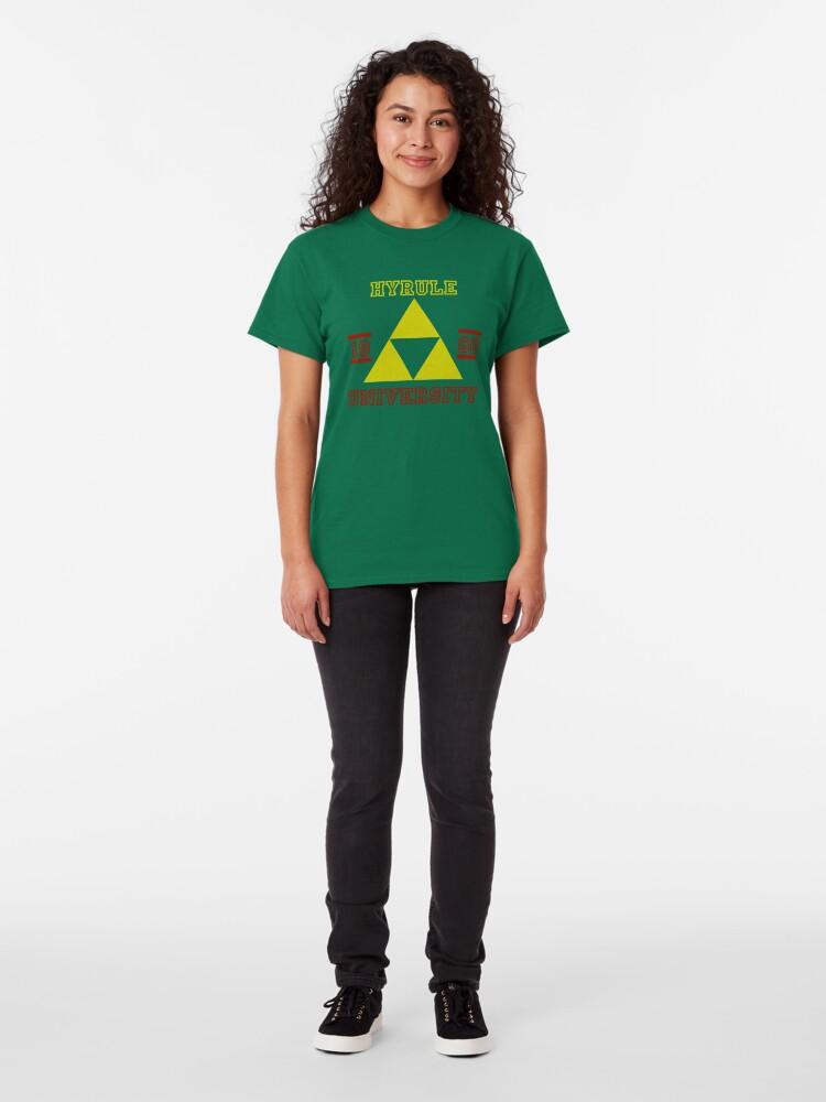 T-shirt classique ''HYRULE UNIVERSITY': autre vue