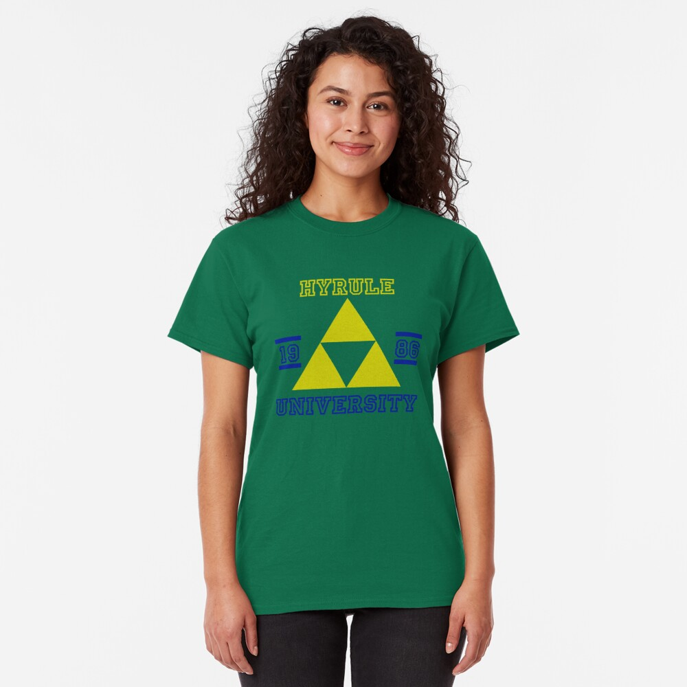 T-shirt classique «HYRULE UNIVERSITY bleu»