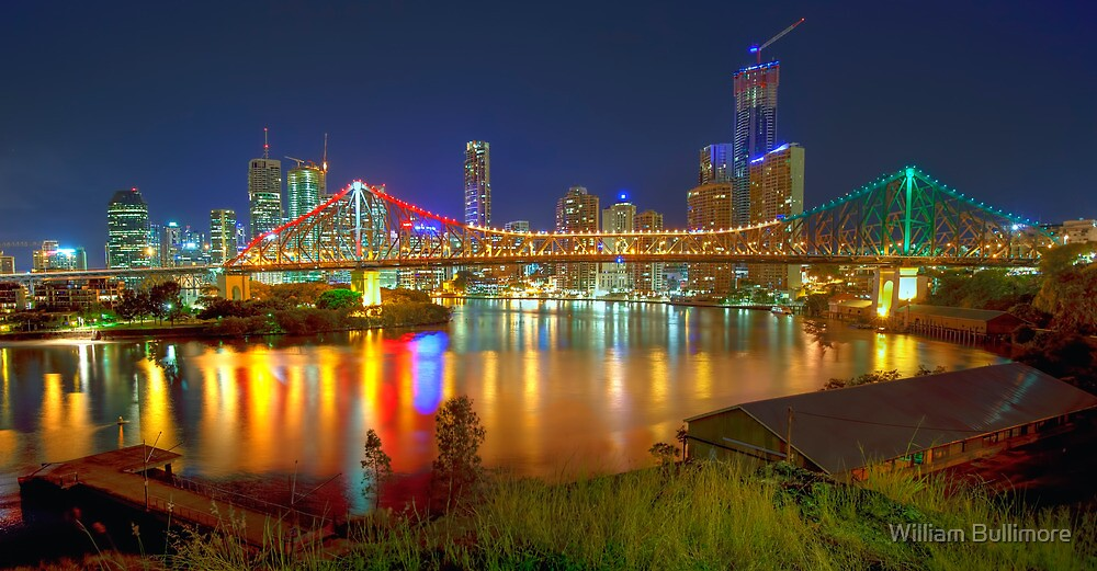 Story Bridge • Brisbane • Australia by William Bullimore