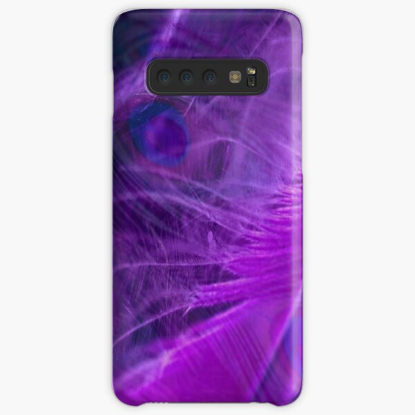 Purple Peacock Feathers Pattern  Samsung Galaxy Snap Case
