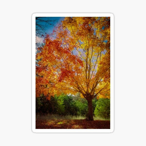 Golden Autumn Sticker