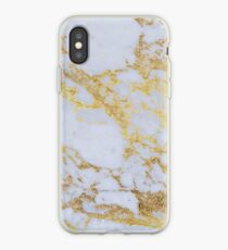 Awesome trendy modern faux gold glitter marble iPhone Case