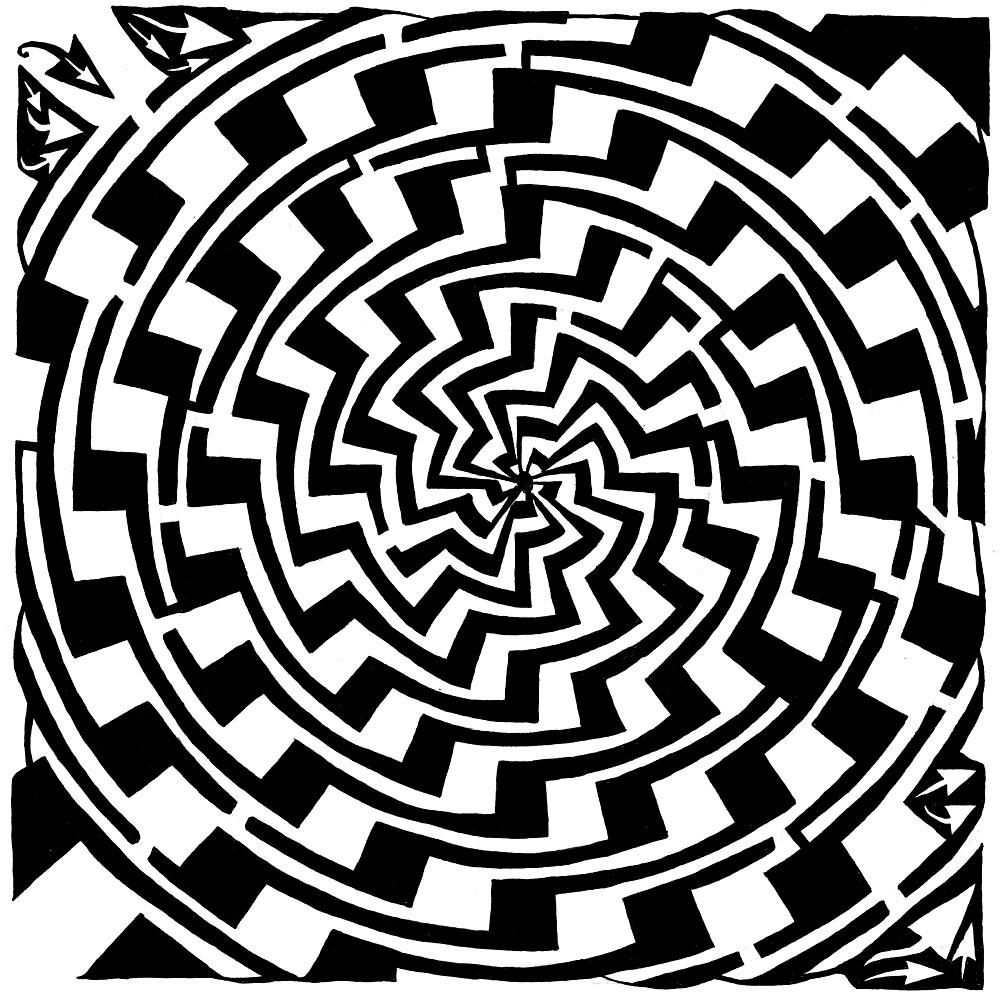 Maze of Vortex Gradient Swirl by Yonatan Frimer