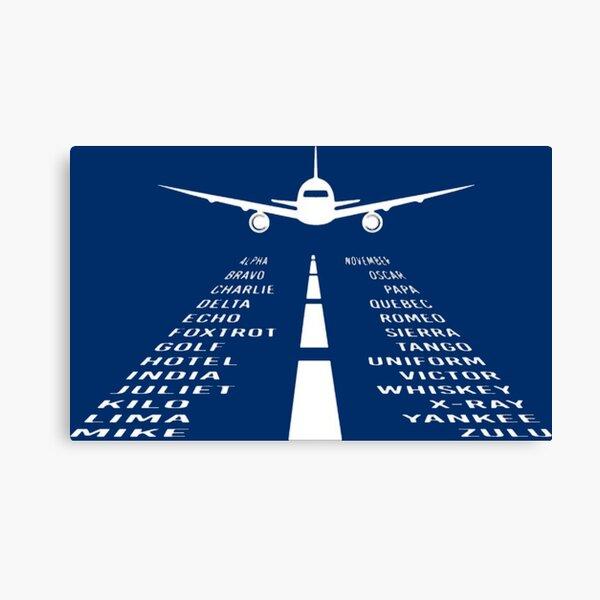 Airplane Phonetic Alphabet Canvas Print