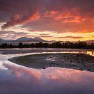 Snowdonia - Sunrise across Traeth Mawr by Angie Latham