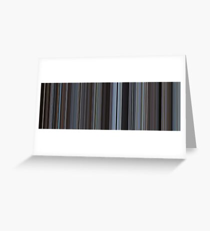 Moviebarcode: Harold and Maude (1971) [Simplified Colors] Greeting Card
