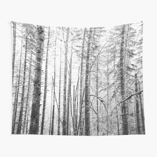 Forest Trees - Winter Wood Tapestry
